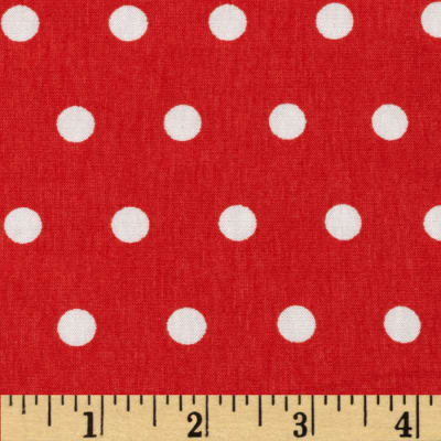 Dakota Jersey Knit Dots Tangerine Red/ Powder White