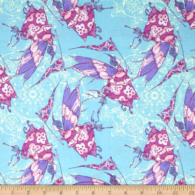 Tina Givens Feather Flock Princess Feather Aqua