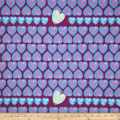 Tina Givens Feather Flock Heart Candy Periwinkle
