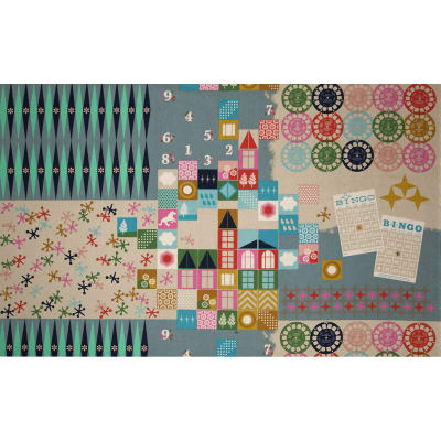 Cotton + Steel Playful Canvas Playroom Teal