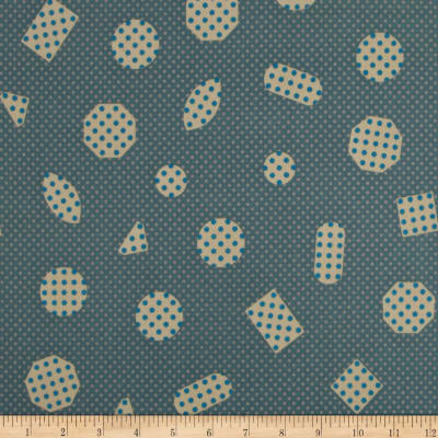 Cotton + Steel Cookie Book Non-Pareils Lawn Teal