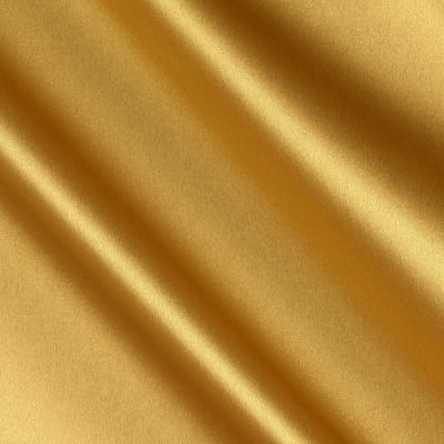 Debutante Stretch Satin Fabric Gold