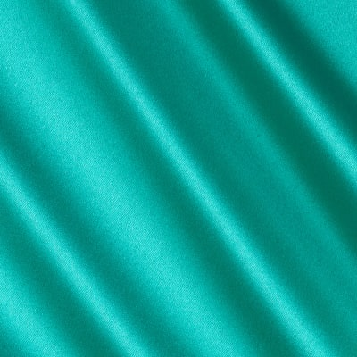 Debutante Stretch Satin Fabric Cool Jade