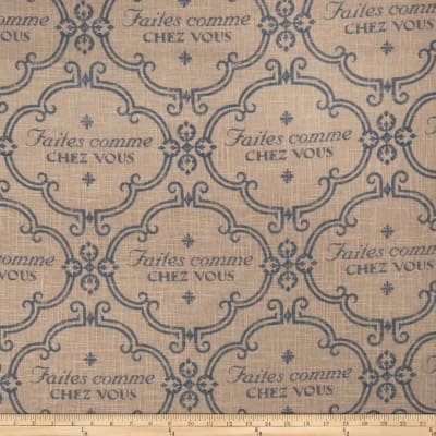 Jaclyn Smith 02128 French Home Blend Cobalt