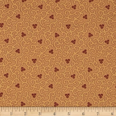 Moda Collections for a Cause Mill Book 1892 Swirls & Clover Tan/Red
