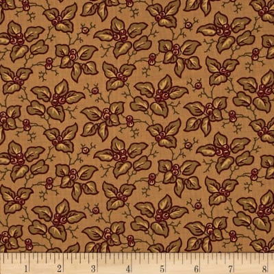 Moda Collections for a Cause Mill Book 1892 Leaves & Berries Tan