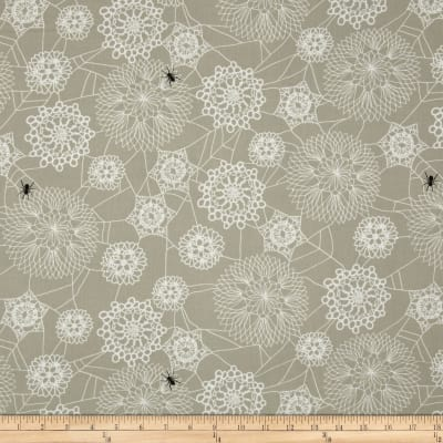 Cotton + Steel Spellbound Floral Web Taupe