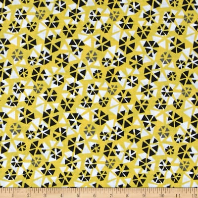 Remix Abstract Triangles Yellow