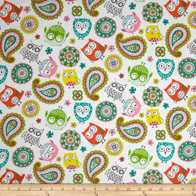 Flockie Darling Paisley Owls White