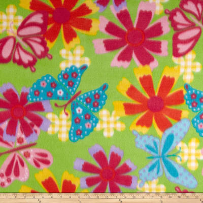 Fleece Print Cindi Lime