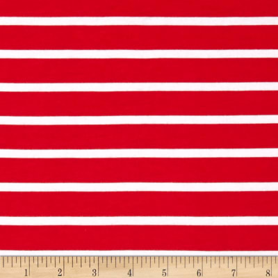 Riley Blake Jersey Knit Stripe Red