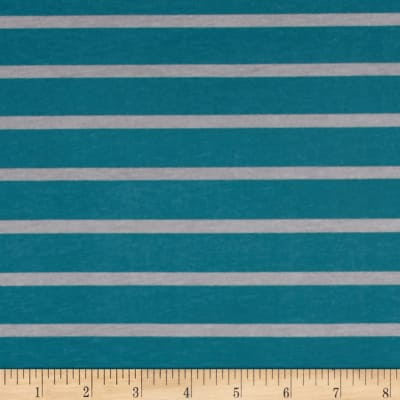 Riley Blake Knit Stripe Gray/Teal