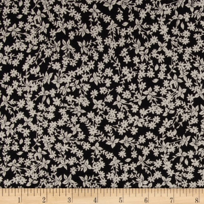 Ibiko Jersey Knit Floral Black/Tan