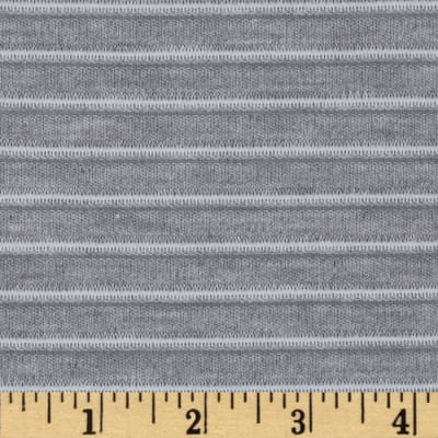 Ottoman Stripe Knit Light Grey