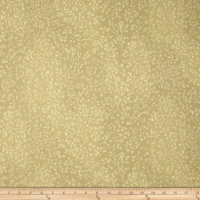 110 In. Wide Quilt Back Green/Cream