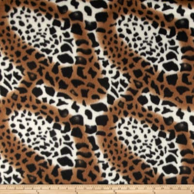 Fleece Print Geo Brown/Black/White