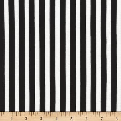 Timeless Treasures Tribeca Simple Stripe Black