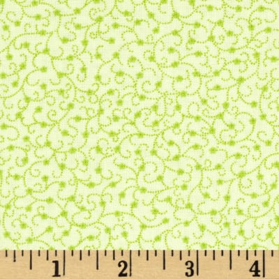 Timeless Treasures Love Dotted Scroll Green