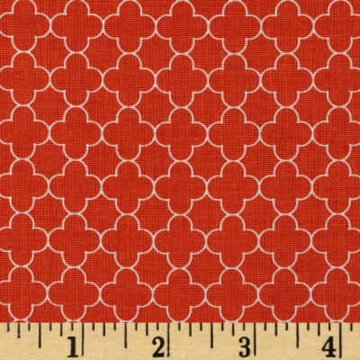 Riley Blake Mini Quatrefoil Orange