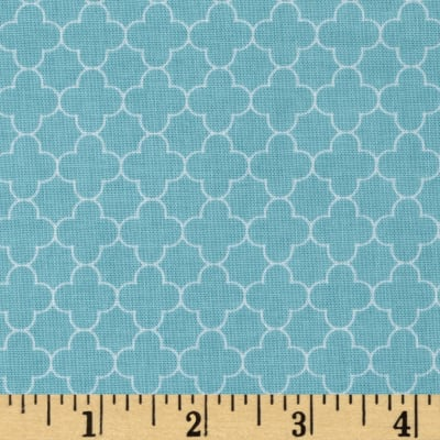 Riley Blake Mini Quatrefoil Aqua