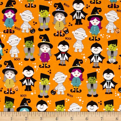 Riley Blake Halloween Magic Halloween Parade Orange