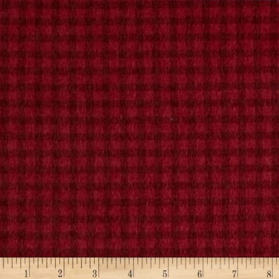 Timeless Treasures Tailormade Flannel Check Red