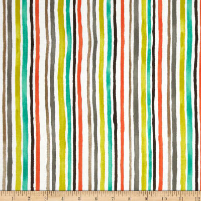 Michael Miller Painterly Color Strips Retro