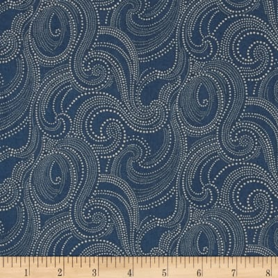 Imperial Dotted Scroll Denim Blue
