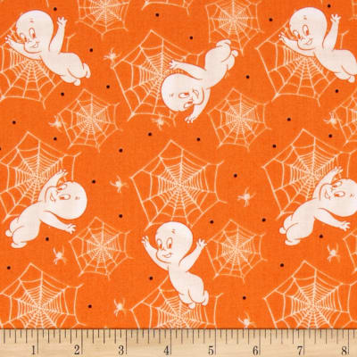 Creepy Cute Casper & Spiderweb Orange