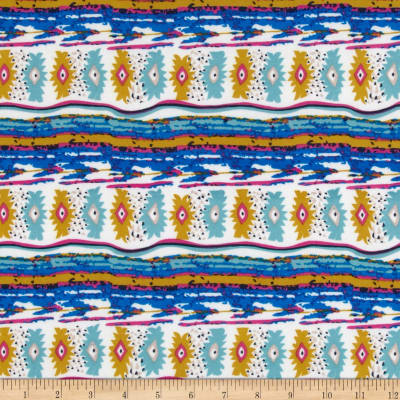 ITY Knit Aztec Royal/Gold/White