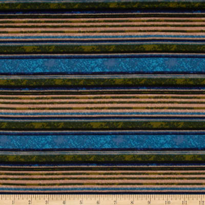 ITY Knit Marble Stripe Blue/Green/Yellow
