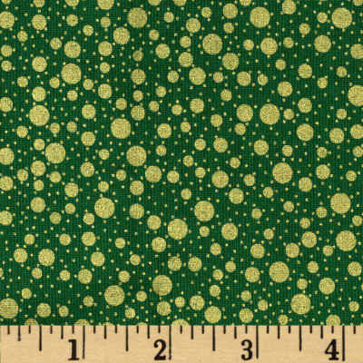 Holiday Metals Metallic Dots Green