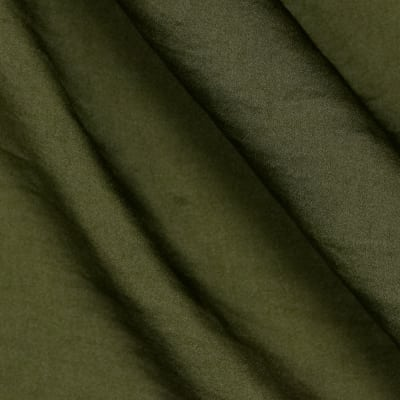 Soft Crush Crepe De Chine Earth Green