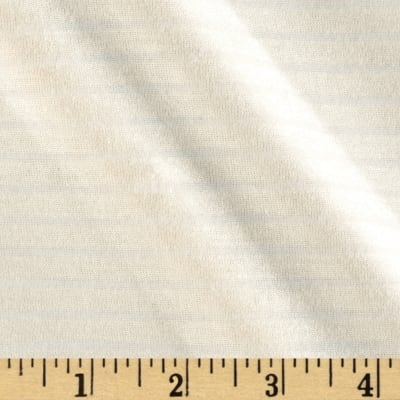 Stretch Rayon Blend Yarn Dyed Jersey Knit Stripes Cream/White