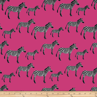 Timeless Treasures Zebras Pink