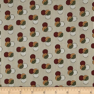Molly B's 1800's Simply Christmas Dot on Stripe Red/Brown