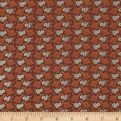 Molly B's 1800's Simply Harvest Flowers Red/Brown