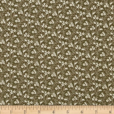 Molly B's 1800's Simply Harvest Floral Vine Tonal Green