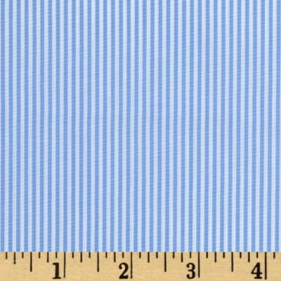 Wide Crease Resistant Pima Stripe Blue