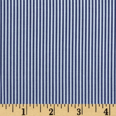 Wide Crease Resistant Pima Stripe Royal
