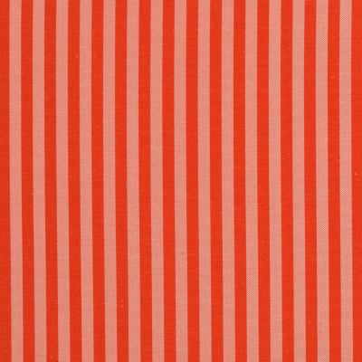 Silk Taffeta Stripe Orange