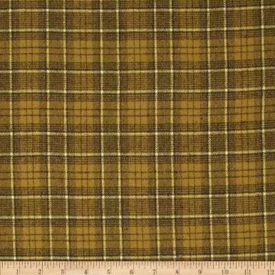 Primo Plaids Flannel Plaid Olive Green/Black