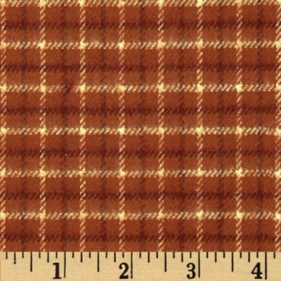 Primo Plaids Flannel Small Check Orange/Red