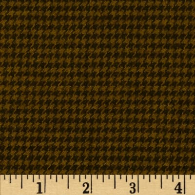 Primo Plaids Flannel Christmas II Houndstooth Brown
