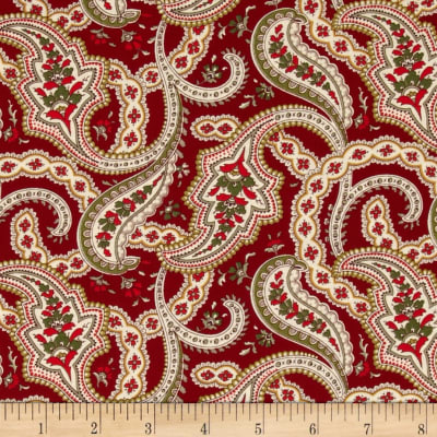 Always the Season Large Paisley Red