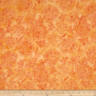Timeless Treasures Tonga Batik Pashmina English Rose Peach
