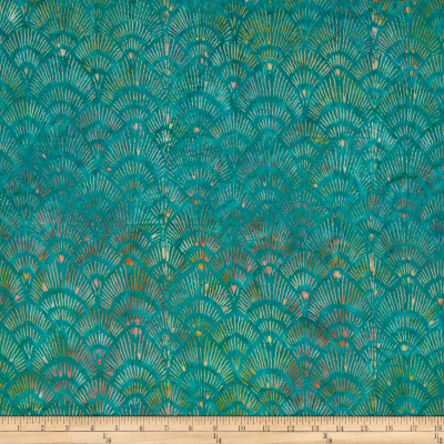 Timeless Treasures Tonga Batik Pashmina Chandelier Emerald