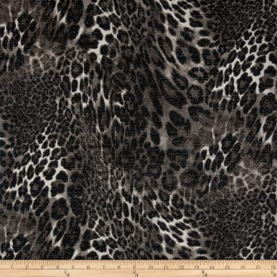 Double Knit Glitz Leopard Grey/Black