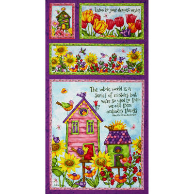 Birdhouse Gardens 24 In. Panel Mul1