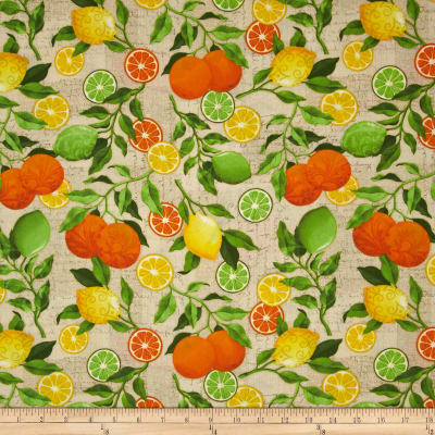 Citrus Grove Citrus All-Over Yellow